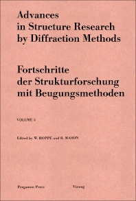 Cover image for Advances in Structure Research by Diffraction Methods