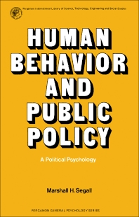 Human Behavior and Public Policy - 1st Edition - ISBN: 9780080178530, 9781483139036