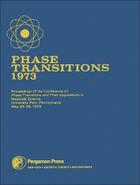 Phase Transitions - 1973 - 1st Edition - ISBN: 9780080179551, 9781483158624