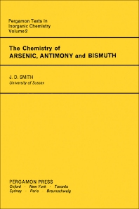 The Chemistry of Arsenic, Antimony and Bismuth - 1st Edition - ISBN: 9780080187785, 9781483187549