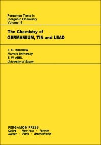 The Chemistry of Germanium - 1st Edition - ISBN: 9780080188546, 9781483187587