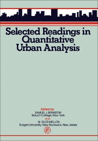 Selected Reading in Quantitative Urban Analysis - 1st Edition - ISBN: 9780080195933, 9781483146461