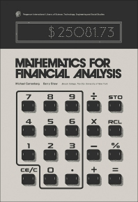 Mathematics for Financial Analysis - 1st Edition - ISBN: 9780080195995, 9781483279275
