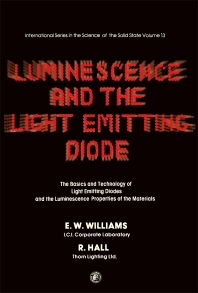Luminescence and the Light Emitting Diode - 1st Edition - ISBN: 9780080204413, 9781483280219