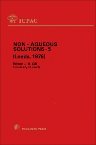 Non-Aqueous Solutions – 5 - 1st Edition - ISBN: 9780080212029, 9781483155715
