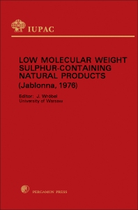 Low Molecular Weight Sulphur Containing Natural Products - 1st Edition - ISBN: 9780080212043, 9781483154411
