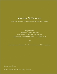 Human Settlements - 1st Edition - ISBN: 9780080212432, 9781483138282