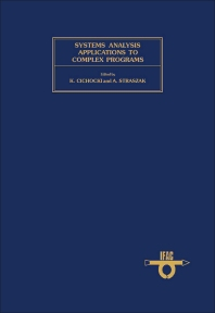 Systems Analysis Applications to Complex Programs - 1st Edition - ISBN: 9780080220291, 9781483298382