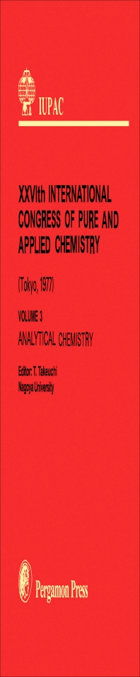 Analytical Chemistry - 1st Edition - ISBN: 9780080220376, 9781483150970