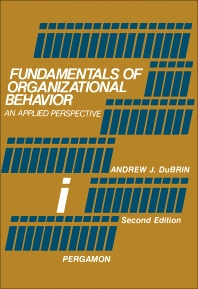 Fundamentals of Organizational Behavior - 2nd Edition - ISBN: 9780080222523, 9781483148175