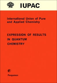 Expression of Results in Quantum Chemistry - 1st Edition - ISBN: 9780080223674, 9781483165684