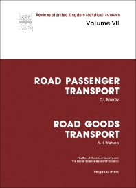 Road Passenger Transport: Road Goods Transport - 1st Edition - ISBN: 9780080224497, 9781483188324