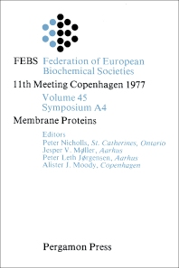 Membrane Proteins - 1st Edition - ISBN: 9780080226262, 9781483188355