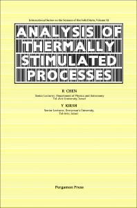 The Analysis of Thermally Stimulated Processes - 1st Edition - ISBN: 9780080229300, 9781483285511
