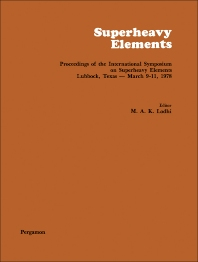 Superheavy Elements - 1st Edition - ISBN: 9780080229461, 9781483158808