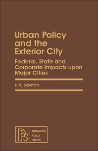 Urban Policy and the Exterior City - 1st Edition - ISBN: 9780080233901, 9781483188744