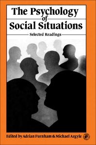 The Psychology of Social Situations - 1st Edition - ISBN: 9780080237190, 9781483136318