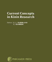 Cover image for Current Concepts in Kinin Research