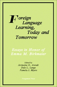 Cover image for Foreign Language Learning, Today and Tomorrow