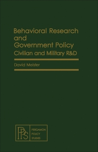 Behavioral Research and Government Policy - 1st Edition - ISBN: 9780080246598, 9781483189246