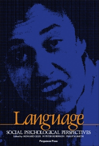 Cover image for Language: Social Psychological Perspectives