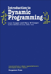 Introduction to Dynamic Programming - 1st Edition - ISBN: 9780080250656, 9781483161587