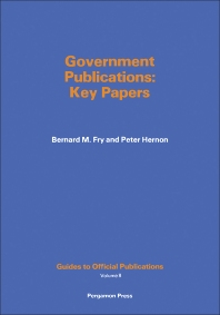 Government Publications - 1st Edition - ISBN: 9780080252162, 9781483156019