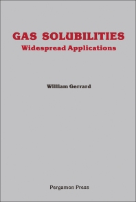 Gas Solubilities - 1st Edition - ISBN: 9780080252483, 9781483147680