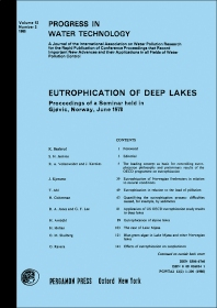 Eutrophication of Deep Lakes - 1st Edition - ISBN: 9780080260242, 9781483136981