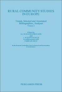 Rural Community Studies in Europe - 1st Edition - ISBN: 9780080260945, 9781483146201