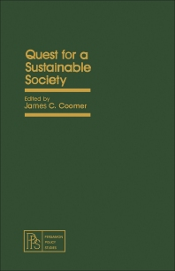 Quest for a Sustainable Society - 1st Edition - ISBN: 9780080271682, 9781483148366