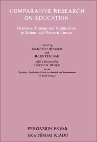 Cover image for Comparative Research on Education