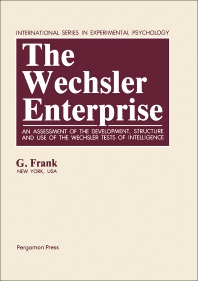 The Wechsler Enterprise - 1st Edition - ISBN: 9780080279732, 9781483285948