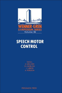 Cover image for Speech Motor Control