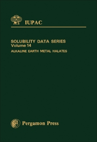 Cover image for Alkaline Earth Metal Halates