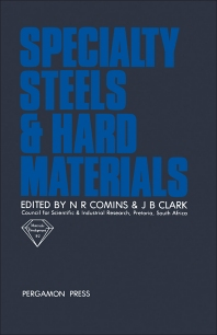 Cover image for Specialty Steels and Hard Materials