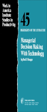 Managerial Decision Making with Technology - 1st Edition - ISBN: 9780080295176, 9781483182360