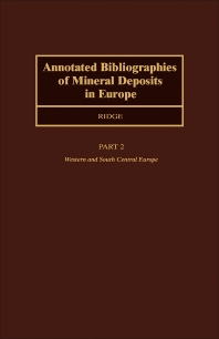 Cover image for Annotated Bibliographies of Mineral Deposits in Europe