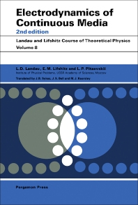 Cover image for Electrodynamics of Continuous Media
