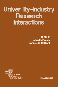 University-Industry Research Interactions - 1st Edition - ISBN: 9780080309873, 9781483190693