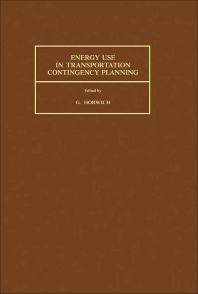 Energy Use in Transportation Contingency Planning - 1st Edition - ISBN: 9780080311203, 9781483151335