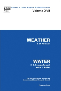 Weather & Water - 1st Edition - ISBN: 9780080318448, 9781483286334