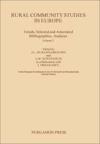 Rural Community Studies in Europe - 1st Edition - ISBN: 9780080318455, 9781483146270