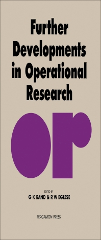 Cover image for Further Developments in Operational Research