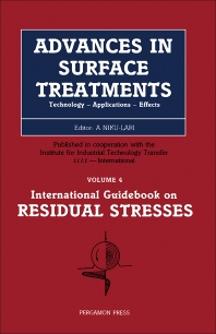 Residual Stresses - 1st Edition - ISBN: 9780080340623, 9781483191003