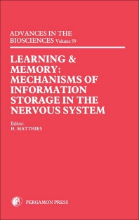 Learning and Memory - 1st Edition - ISBN: 9780080341866, 9781483161310