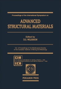 Proceedings of the International Symposium On: Advanced Structural Materials - 1st Edition - ISBN: 9780080360904, 9781483286785