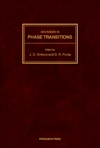 Advances in Phase Transitions - 1st Edition - ISBN: 9780080362342, 9781483286853