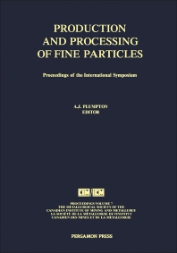 Cover image for Production and Processing of Fine Particles