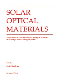 Solar Optical Materials - 1st Edition - ISBN: 9780080366135, 9780080984032